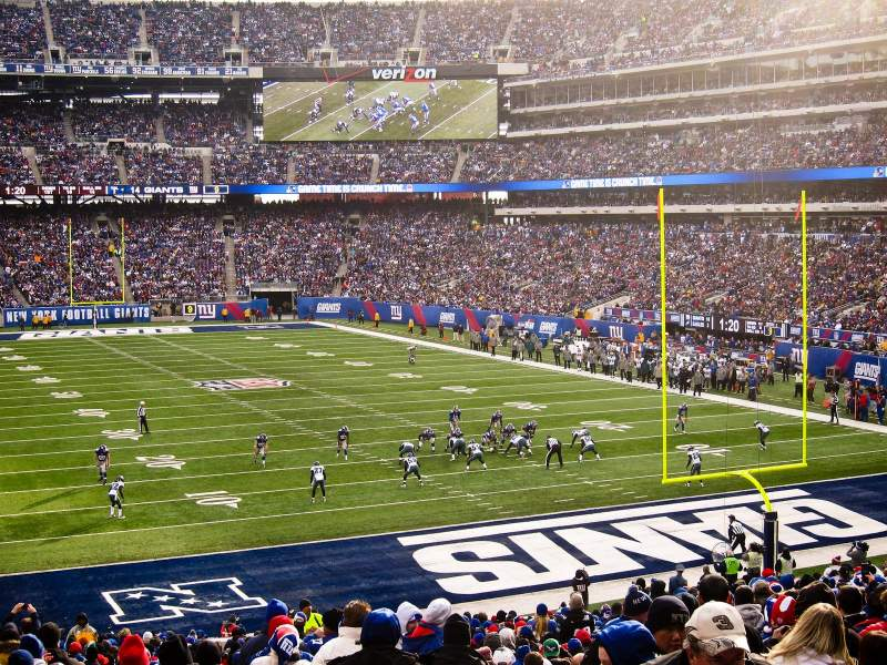 Seating view for MetLife Stadium Section 104 Row 34