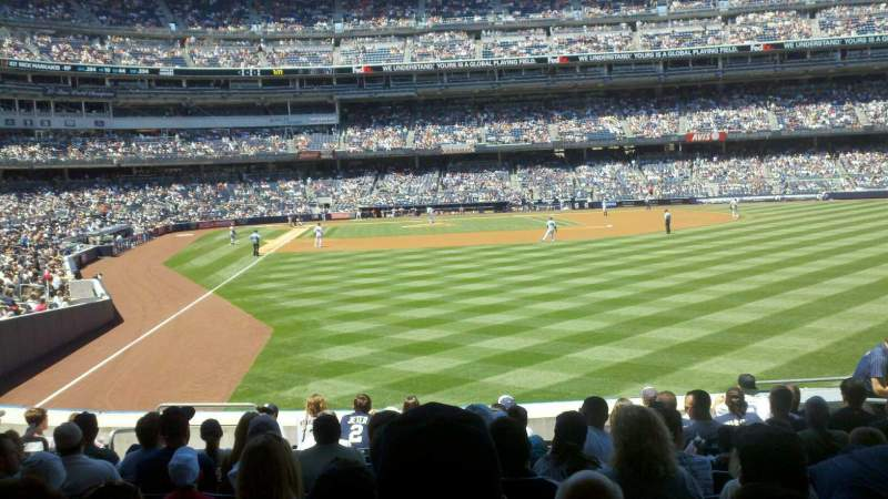 Seating view for Yankee Stadium Section 106 Row 21 Seat 5