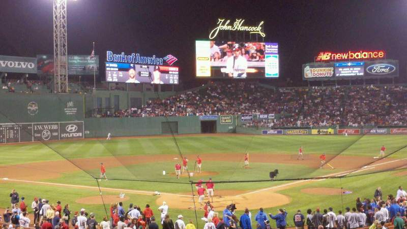 Seating view for Fenway Park Section grand stand Row 5 Seat 8