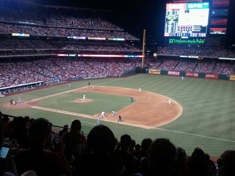 Seating view for Citizens Bank Park Section 212 Row 9 Seat 16