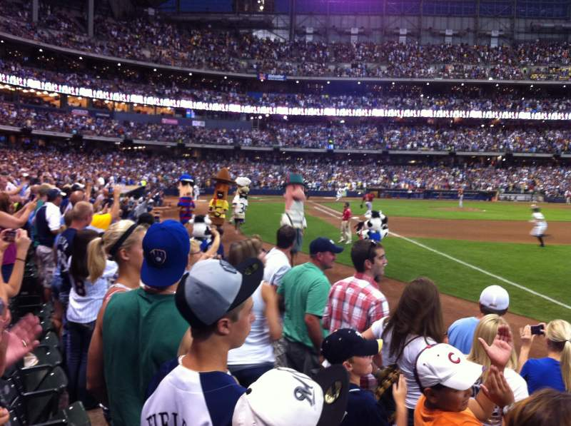 Seating view for Miller Park Section 109 Row 5 Seat 13