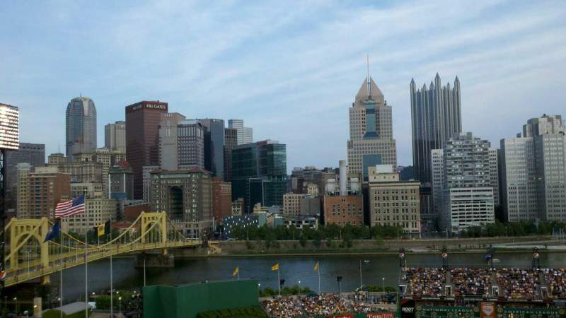 Seating view for PNC Park