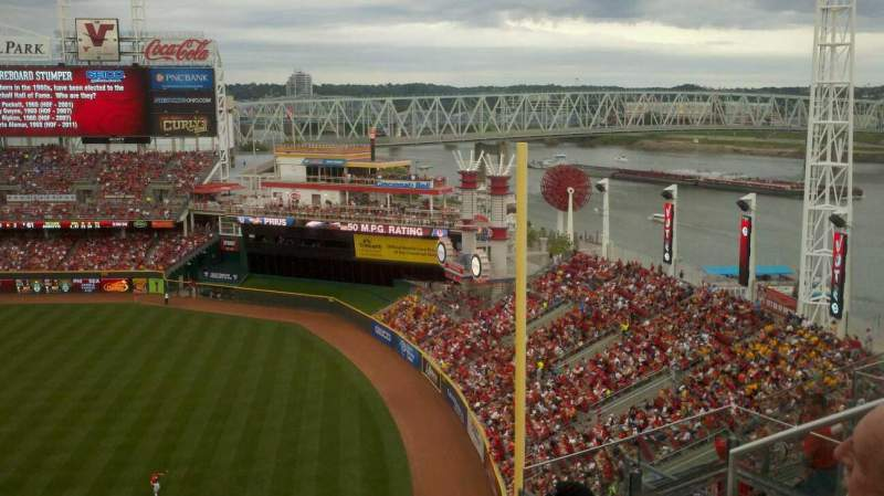 Seating view for Great American Ball Park Section 537 Row F Seat 1