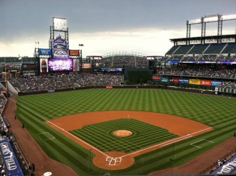 Seating view for Coors Field Section 331 Row 1 Seat 2