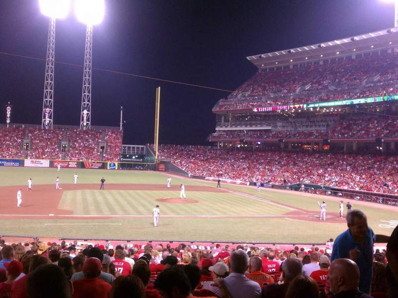 Seating view for Great American Ball Park Section 116 Row FT Seat 3