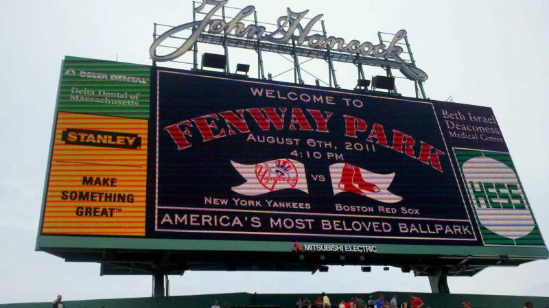 Seating view for Fenway Park Section CF