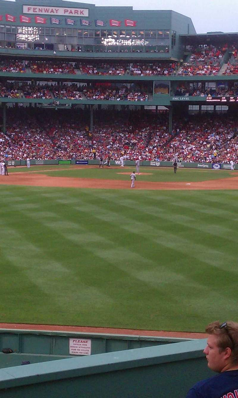 Seating view for Fenway Park Section Bleacher 38 Row 6 Seat 3