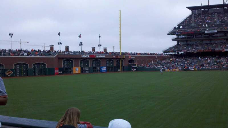Seating view for AT&T Park Section 140 Row 1 Seat 8