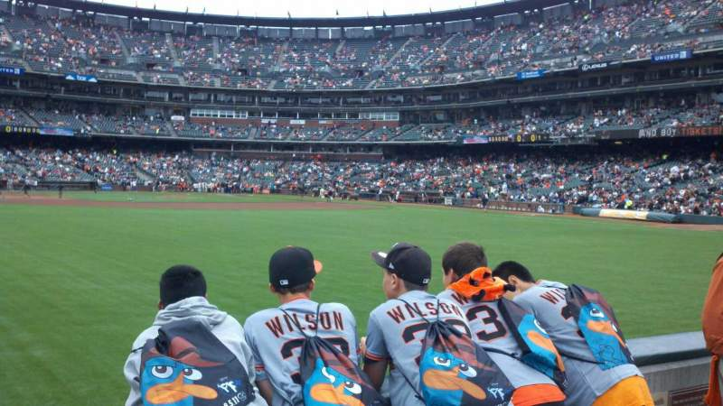 Seating view for Oracle Park Section 140 Row 1 Seat 8