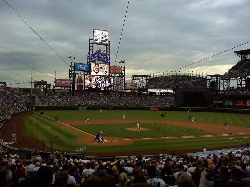 Seating view for Coors Field