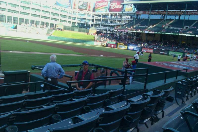Seating view for Globe Life Park in Arlington Section 31 Row 6 Seat 3