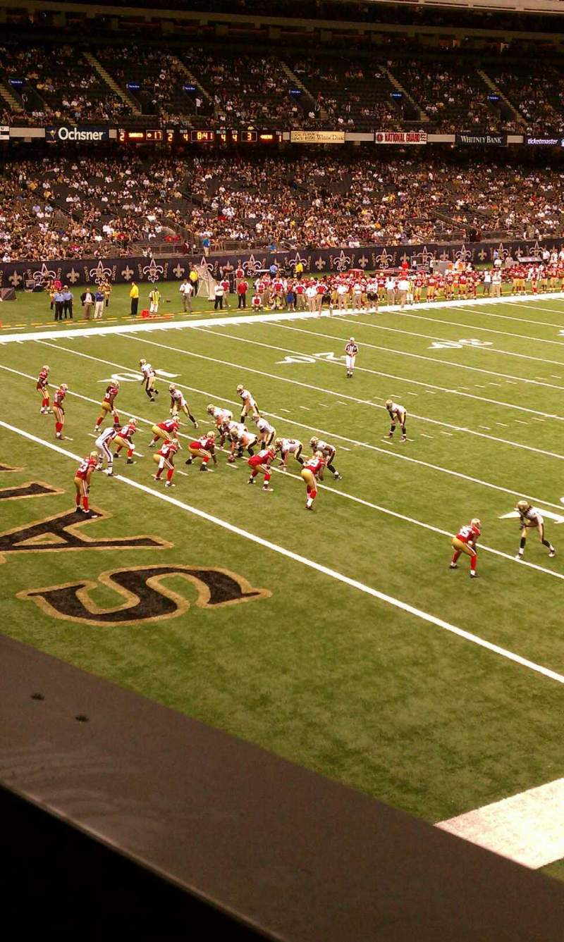 Seating view for Mercedes-Benz Superdome Section 277 Row 1 Seat 10