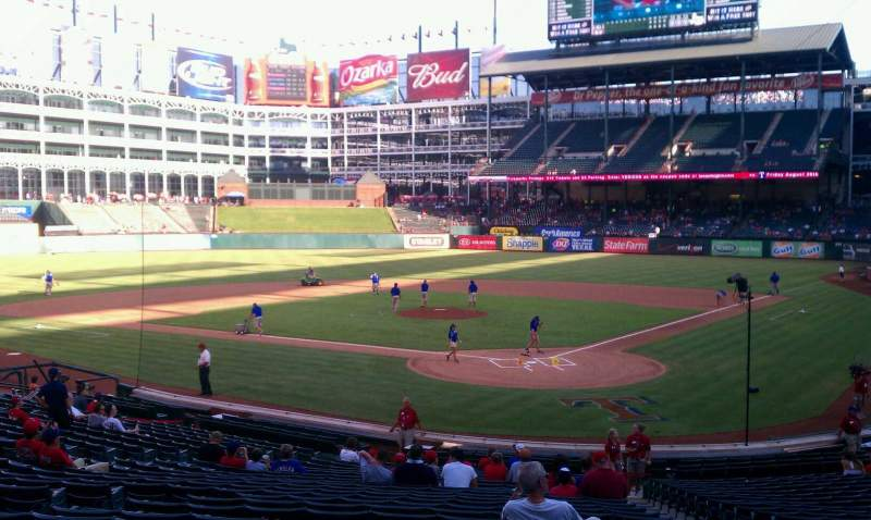 Seating view for Globe Life Park in Arlington Section 24 Row 24 Seat 9