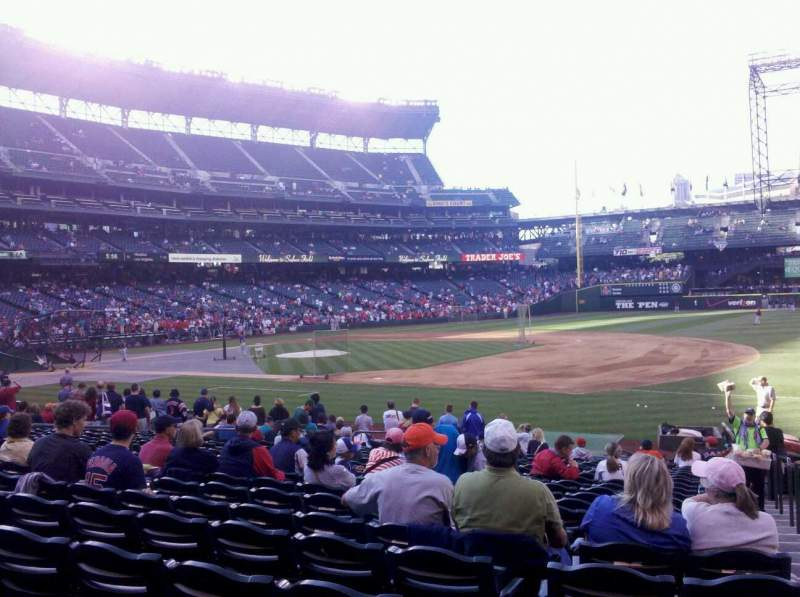Seating view for Safeco Field Section 119 Row 20 Seat 1