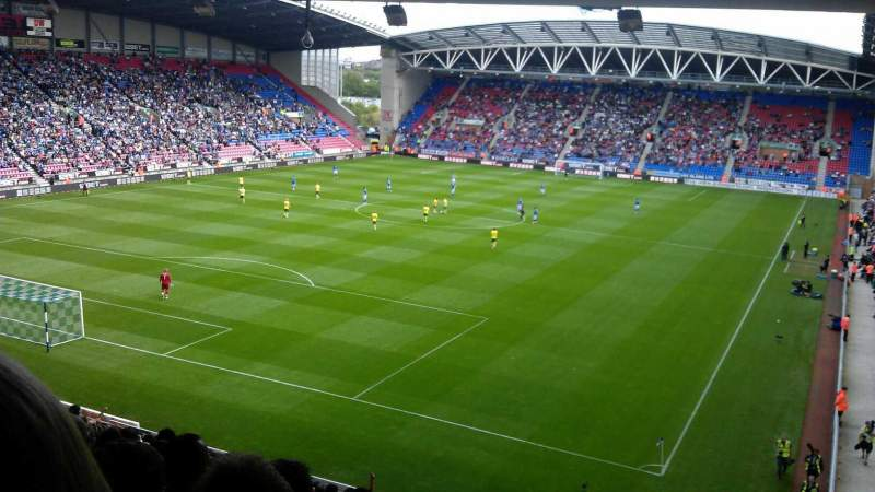 Seating view for DW Stadium Section North Stand Row JJ Seat 7