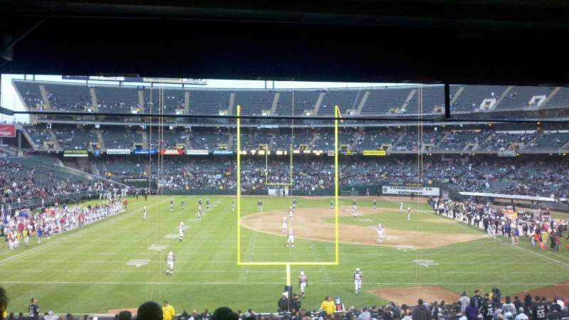 Seating view for Oakland Coliseum Section 128 Row 32 Seat 6