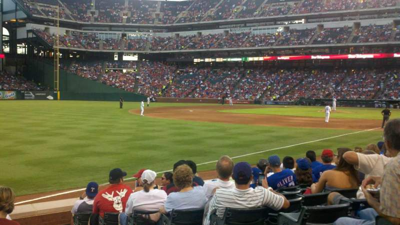 Seating view for Globe Life Park in Arlington Section 13 Row 9 Seat 6