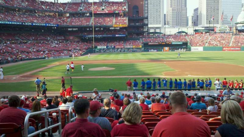 Seating view for Busch Stadium Section 144 Row 16 Seat 1
