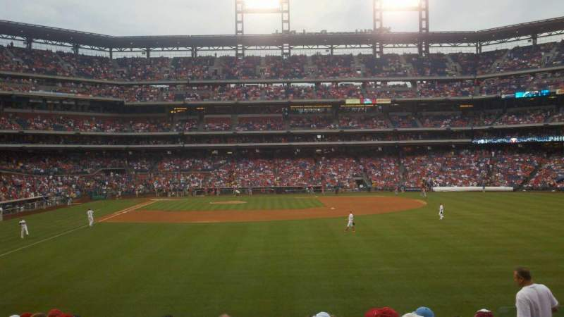 Citizens Bank Park, section: 105, row: 11, seat: 7