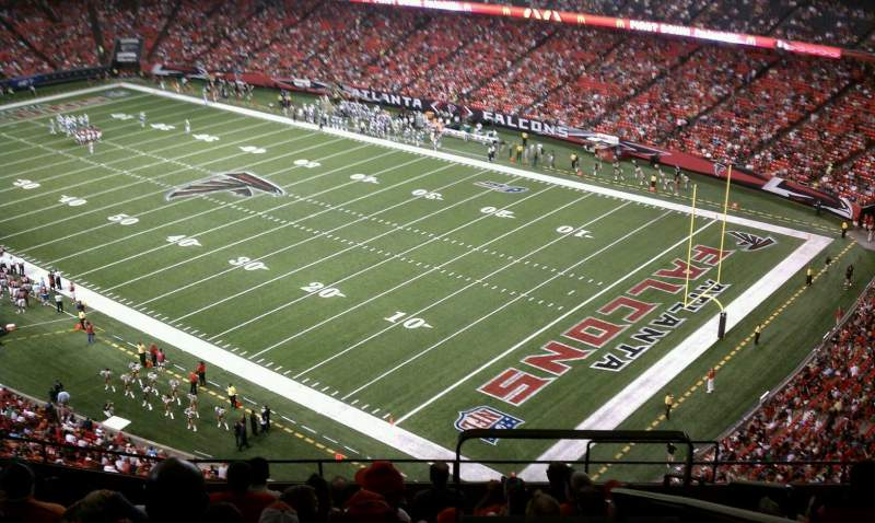 Seating view for Georgia Dome Section 315 Row 10 Seat 18