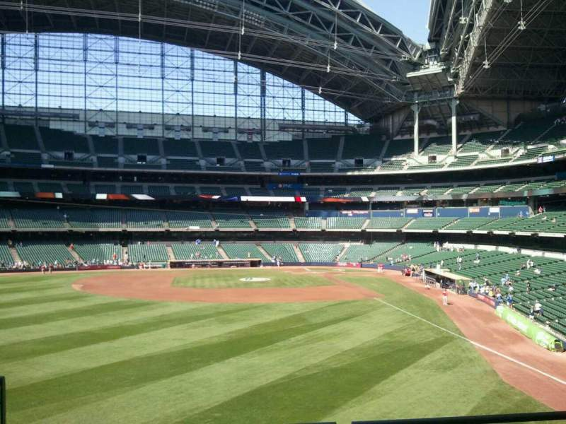 Seating view for American Family Field Section 235 Row 1 Seat 12