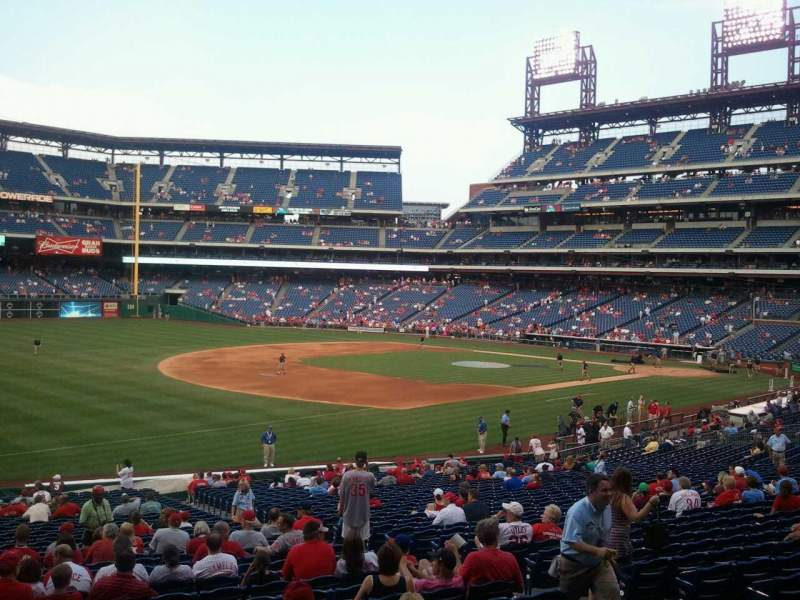 Seating view for Citizens Bank Park Section 136 Row 37 Seat 6