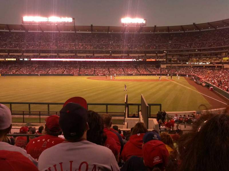 Seating view for Angel Stadium Section 260 Row u Seat 3