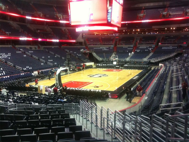 Seating view for Verizon Center Section 107 Row R Seat 5