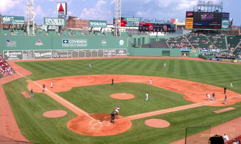 Seating view for Fenway Park Section Emc Club 2 Row 6 Seat 6