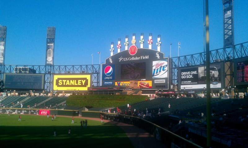 Seating view for Guaranteed Rate Field Section 113 Row 26 Seat 1