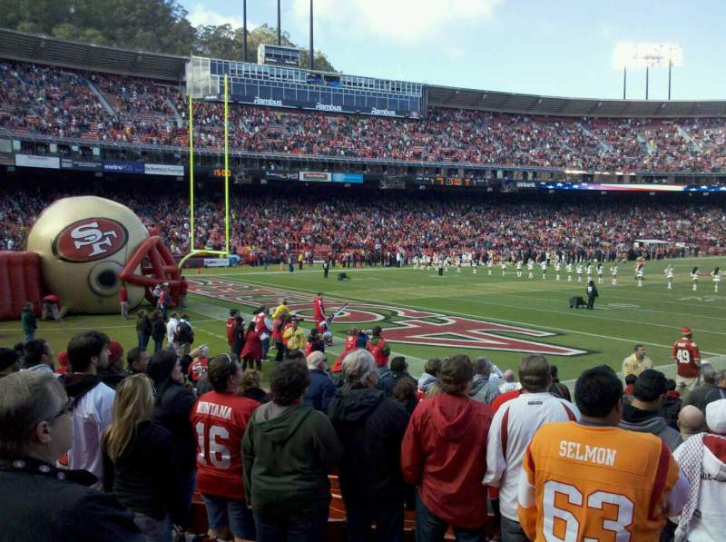 Seating view for Candlestick Park Section LB15 Row J/10 Seat 7