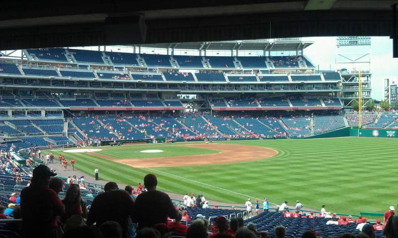 Seating view for Nationals Park Section 136 Row UU Seat 23