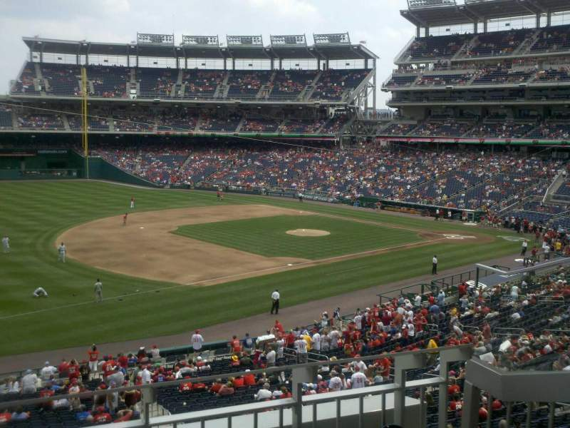 Seating view for Nationals Park Section 205 Row C Seat 4