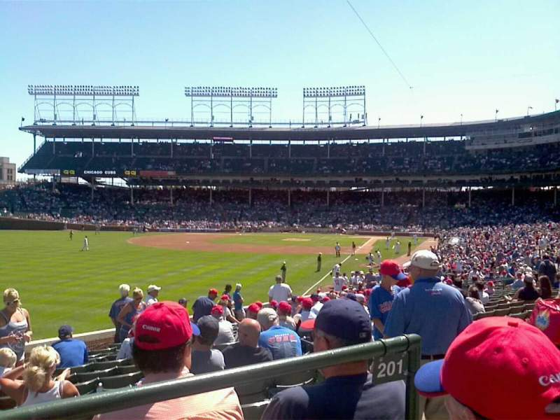 Seating view for Wrigley Field Section 202 Row 2 Seat 5