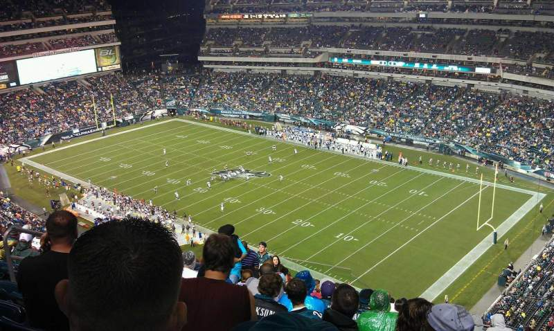 Seating view for Lincoln Financial Field Section 231 Row 22 Seat 16