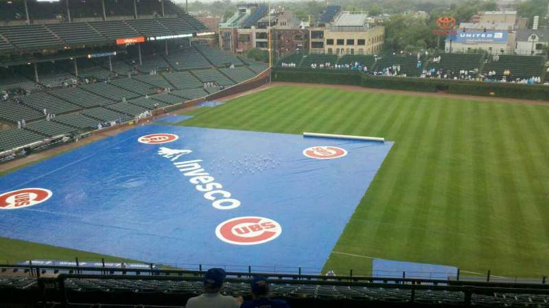 Seating view for Wrigley Field Section 427R Row 6 Seat 7