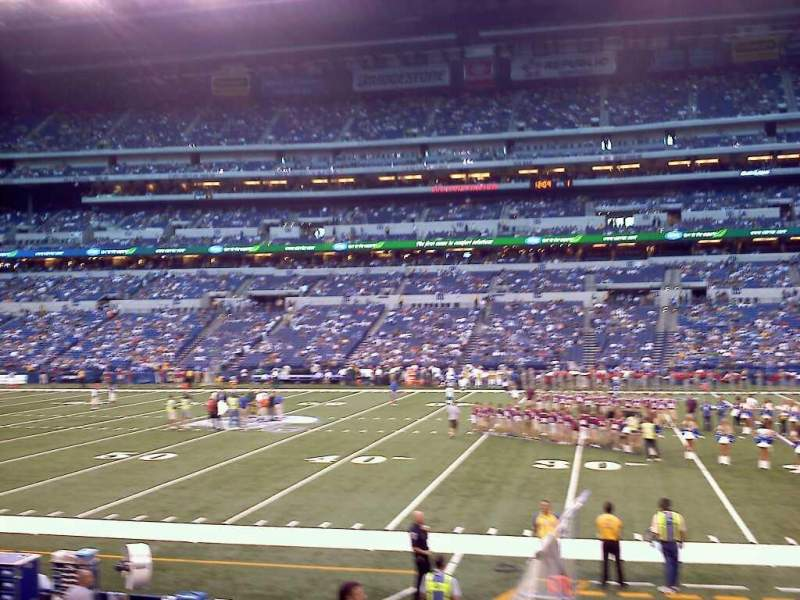 Seating view for Lucas Oil Stadium Section 138 Row 11 Seat 9