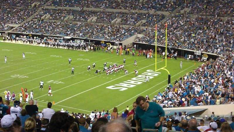 Seating view for EverBank Field Section 230 Row Z Seat 1