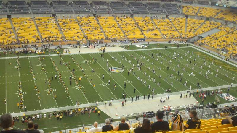 Seating view for Heinz Field Section 508 Row Q Seat 15