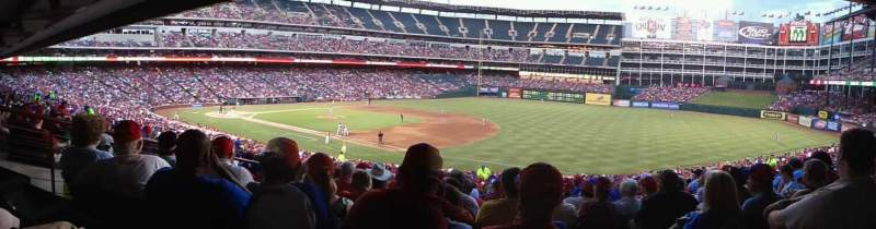 Seating view for Globe Life Park in Arlington Section 137 Row 37 Seat 17