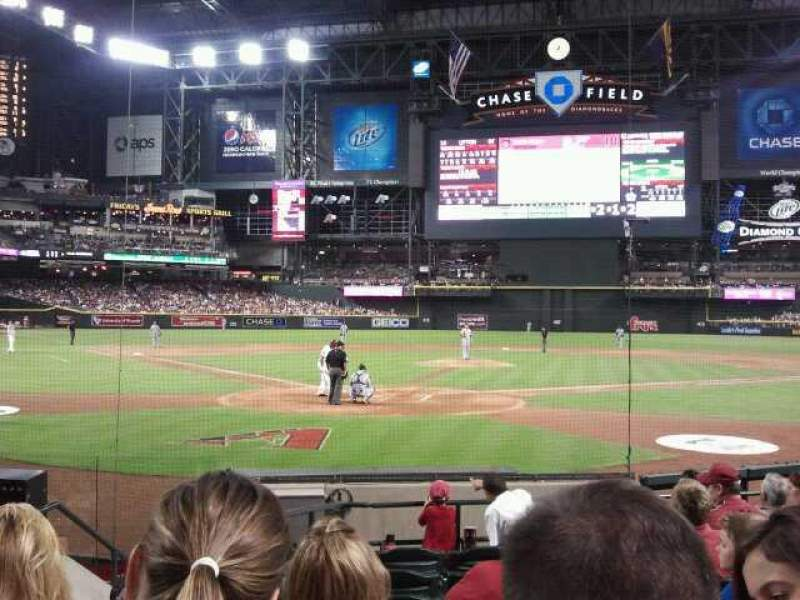 Seating view for Chase Field Section I Row G Seat 9