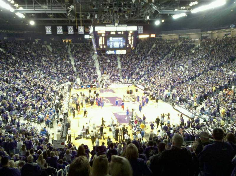 Seating view for Bramlage Coliseum Section 26 Row 28 Seat 14
