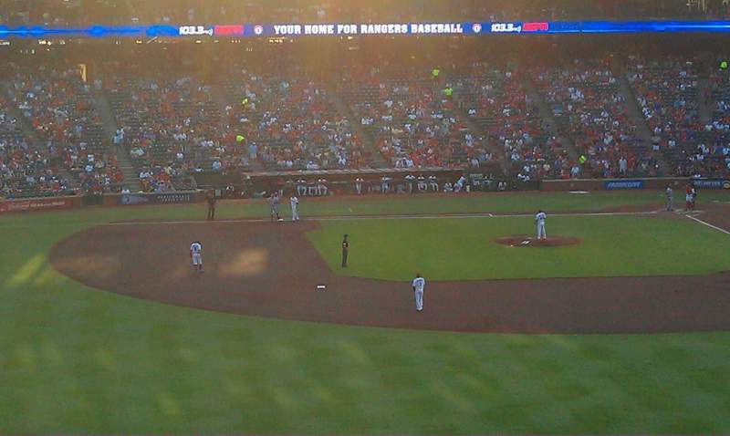 Seating view for Globe Life Park in Arlington Section 202 Row 1 Seat 14