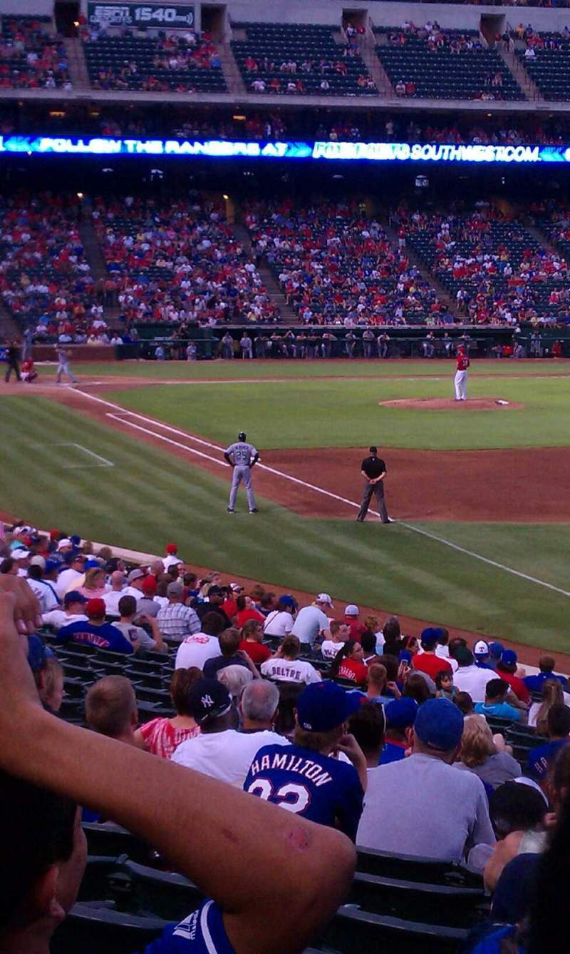 Seating view for Globe Life Park in Arlington Section 39 Row 25 Seat 15