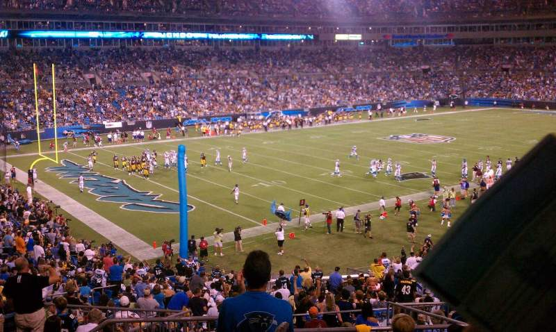 Seating view for Bank of America Stadium Section 350 Row 12 Seat 13