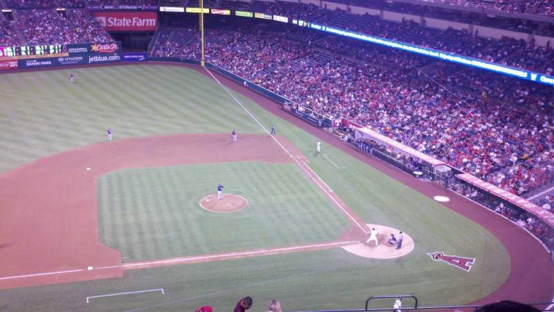Seating view for Angel Stadium Section 514 Row c Seat 1