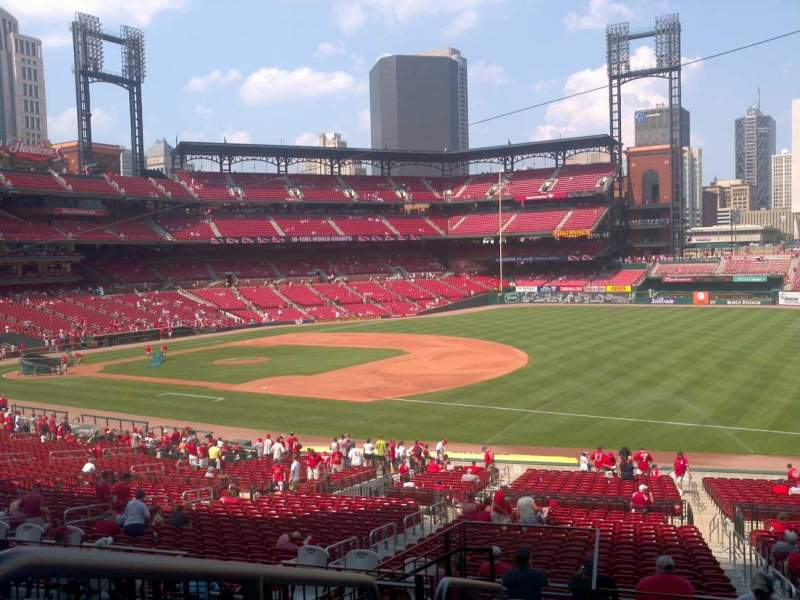 Seating view for Busch Stadium Section 137 Row 26 Seat 1