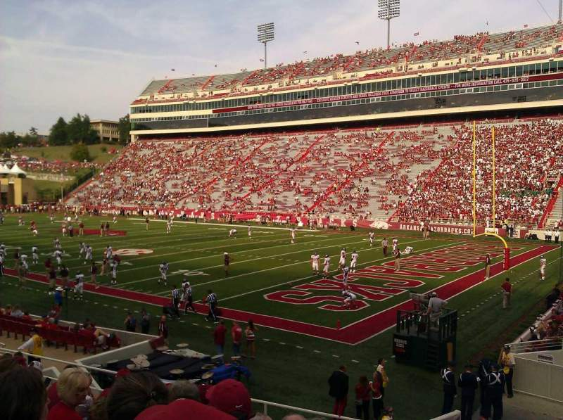 Seating view for Razorback Stadium Section 101 Row 16 Seat 1 and 2
