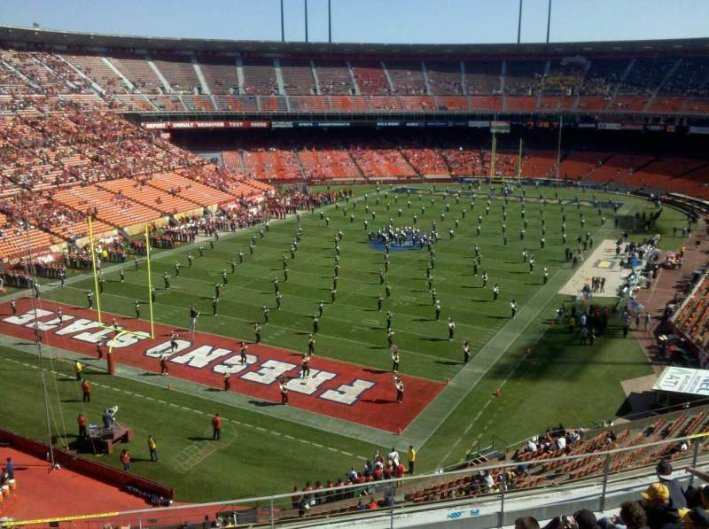 Seating view for Candlestick Park Section ur44 Row 14 Seat 1
