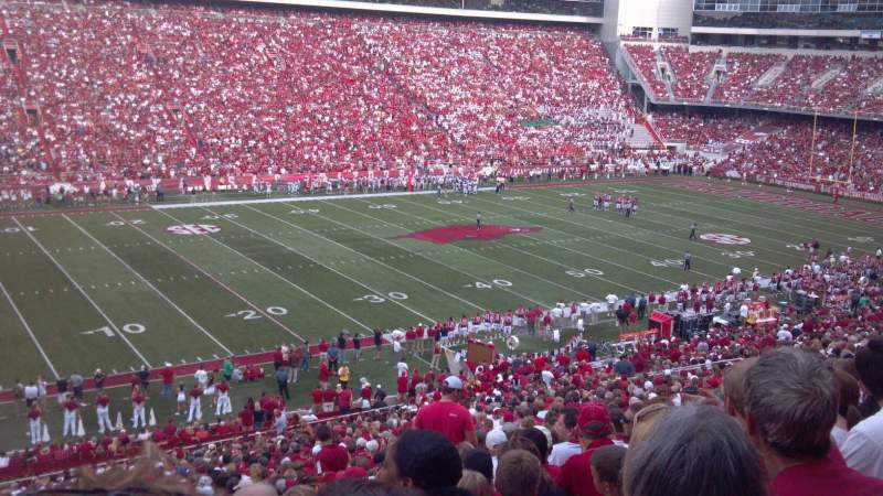 Seating view for Razorback Stadium Section 106 Row 46 Seat 43-44